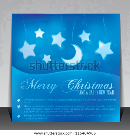 Beautiful Christmas card with copy space - stock vector