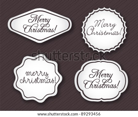 Beautiful Christmas Labels