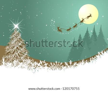 Beautiful Christmas (New Year) card. Vector illustration - stock vector