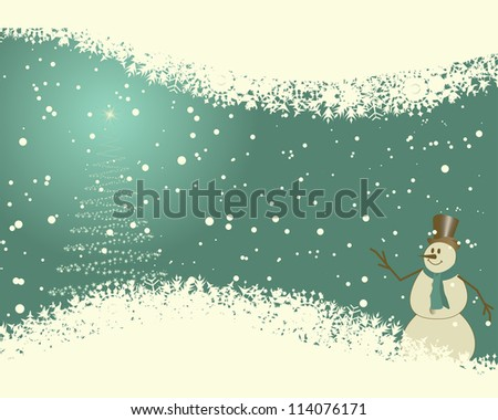 Beautiful Christmas (New Year)retro  card. Vector illustration. - stock vector
