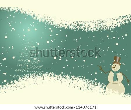 Beautiful Christmas (New Year)retro  card. Vector illustration. - stock vector