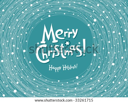 beautiful Christmas postal - stock vector