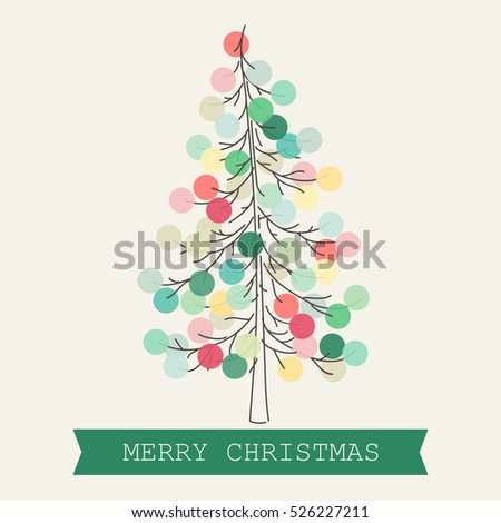 Beautiful Christmas tree with pastel colored decoration