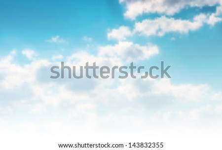Beautiful cloudscape. EPS 10 vector illustration. Used mesh layers - stock vector