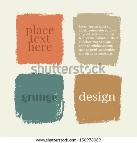 Beautiful color grunge design elements. Vector illustration - stock vector