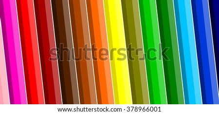 Beautiful colorful background with crayons - vector illustration