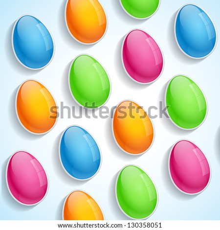 beautiful colorful easter eggs design