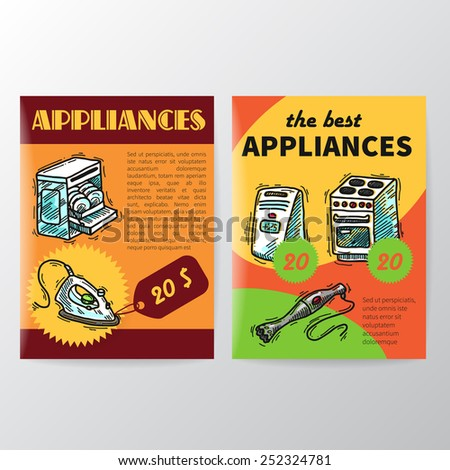 Beautiful colorful flyers home appliahces big sale