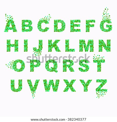 Beautiful Colorful Font English Alphabet Splash Design