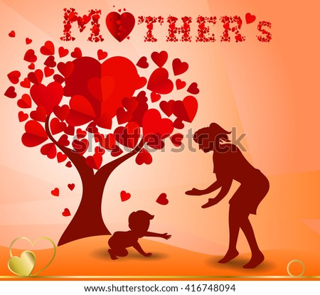 Beautiful Concept Wallpaper For Happy Mothers Day Celebration