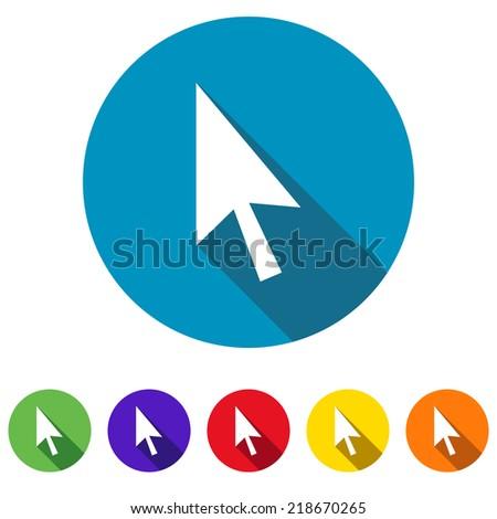 Beautiful Cursor web icon - stock vector