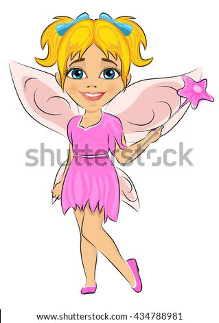 Beautiful cute girl dressed in fairy cosume