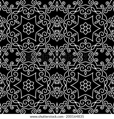 Beautiful Damask backgrounds,seamless patterns, vector - stock vector