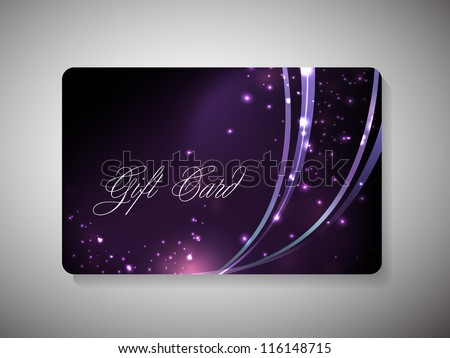 Beautiful decorated gift cards for Merry Christmas celebration. EPS 10. - stock vector