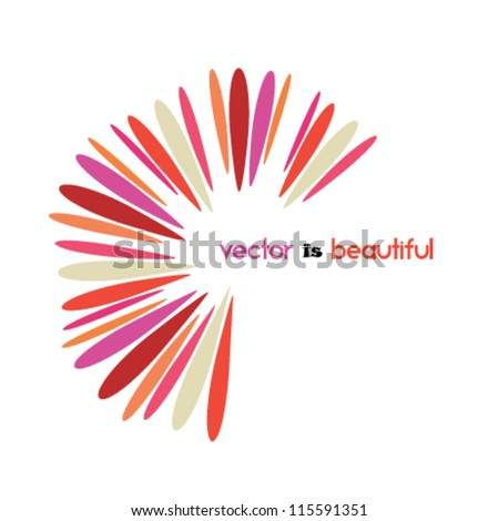 beautiful design element, abstract flower icon, logo - stock vector