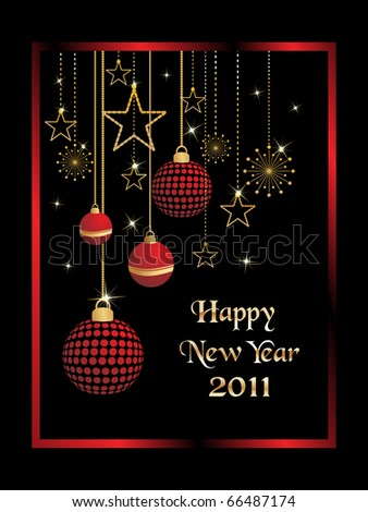 beautiful design illustration for new year 2011 - stock vector