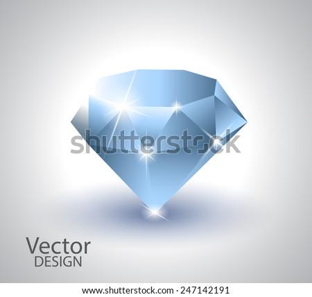 Beautiful diamond (vector set) - stock vector