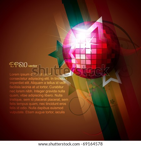 beautiful disco ball eps10 vector - stock vector