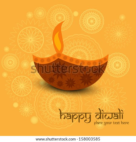Beautiful diwali greeting card colorful background  - stock vector