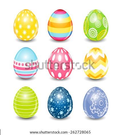 Beautiful Easter Egg Background Vector Illustration EPS10 - stock vector