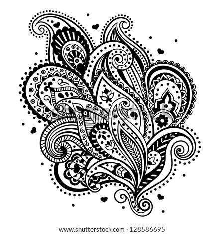 Simple Paisley Design Beautiful Ethnic