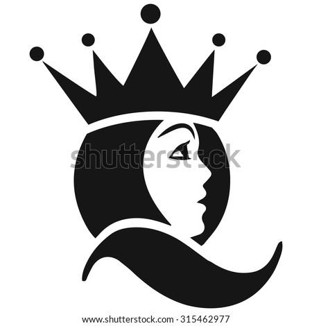 Beautiful face queen icon stock vector 315462977 shutterstock beautiful face queen icon stopboris Choice Image