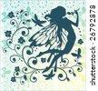 Beautiful Fairy vector graphic - stock vector