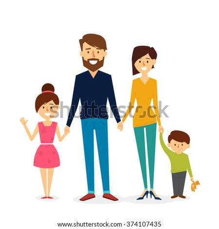 Beautiful Family Design. Vector Illustration - stock vector