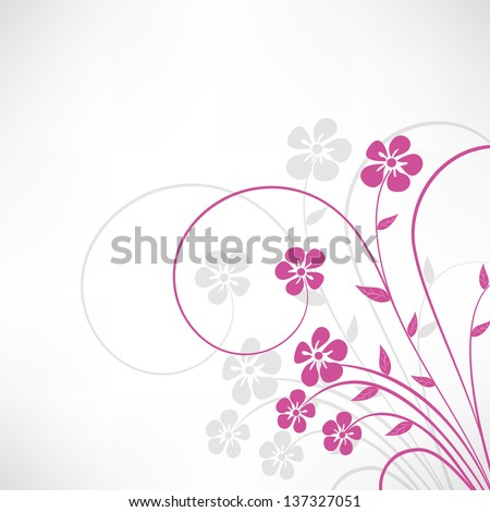 Beautiful floral background. - stock vector