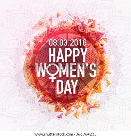 Beautiful floral design decorated greeting card for Happy Women's Day celebration. - stock vector