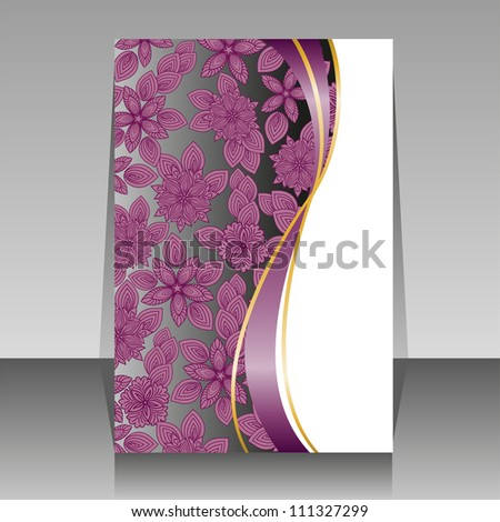 beautiful floral design for the cover of brochures
