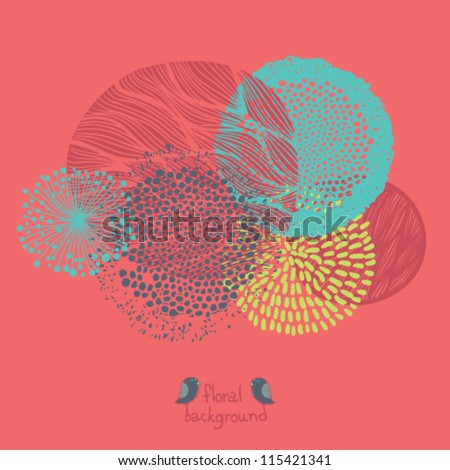 Beautiful floral elements collection - stock vector