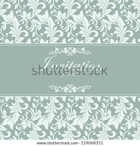 Beautiful floral invitation cards. - stock vector