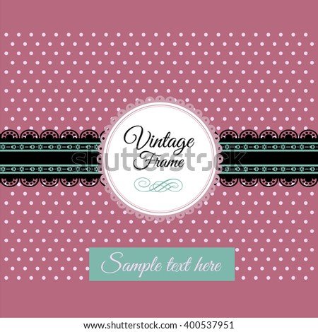 Beautiful floral lace decoration made in vector. Unique ornaments for greeting card, wedding invitation, save the date. Lacy background with space for your text. Romantic vintage vector collection