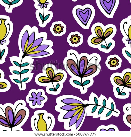 Beautiful floral ornament, Vector seamless pattern.