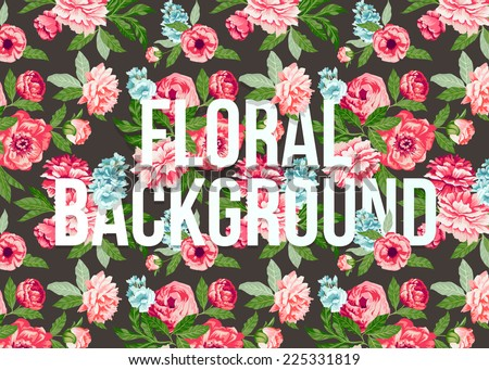Beautiful floral pattern. Vector illustration - stock vector
