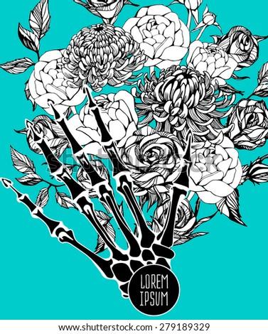Beautiful flower background art. Decorative floral elements - stock vector