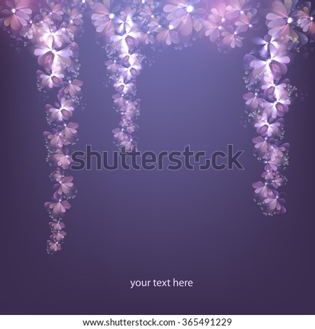 beautiful flower vine, vector - stock vector