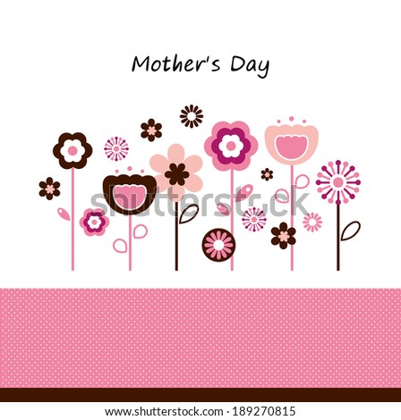 Beautiful flowers for Mother's Day celebration  - stock vector