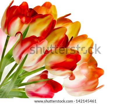 Beautiful flowers made with color filters. And also includes EPS 10 vector - stock vector