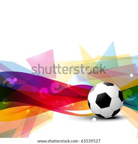 beautiful football vector design art - stock vector