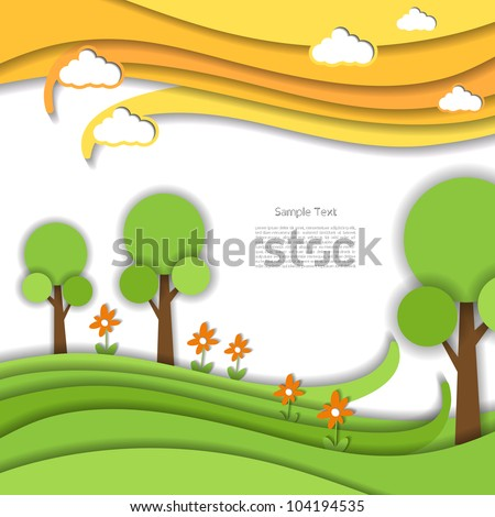 beautiful forest - stock vector