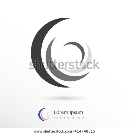 beautiful four element corporate logo / icon  - stock vector