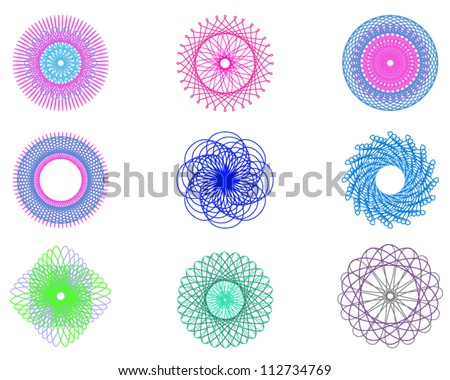 Beautiful geometric abstract patterns for logo - stock vector
