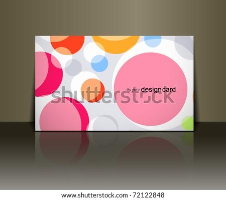 Beautiful gift card design element, vector illustration. - stock vector