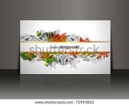 Beautiful gift card design element, vector illustration.