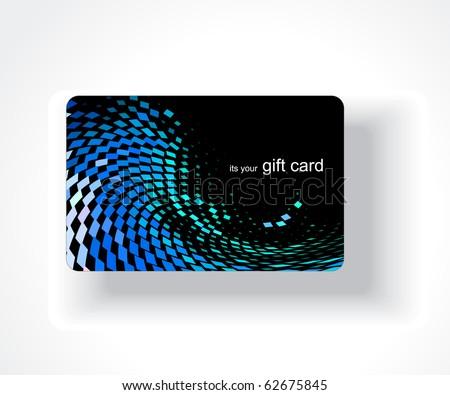 Beautiful gift card design, vector illustration. - stock vector