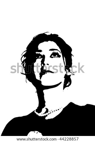 Beautiful girl vector silhouette