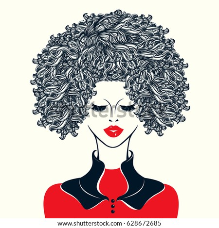 Afro Hair Vector Afro Hair Stock Images...