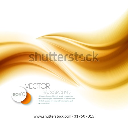 Beautiful Gold Satin. Drapery Background. Vector Illustration - stock vector
